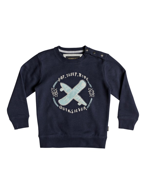0 Eat And Ride - Sweatshirt for Boys 2-7 Blue EQKFT03264 Quiksilver