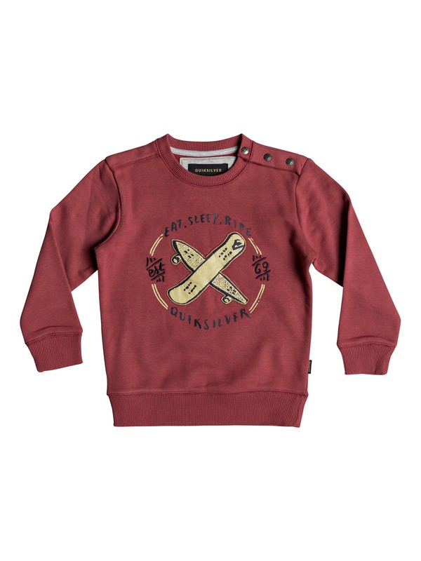 0 Eat And Ride - Sweatshirt for Boys 2-7 Red EQKFT03264 Quiksilver