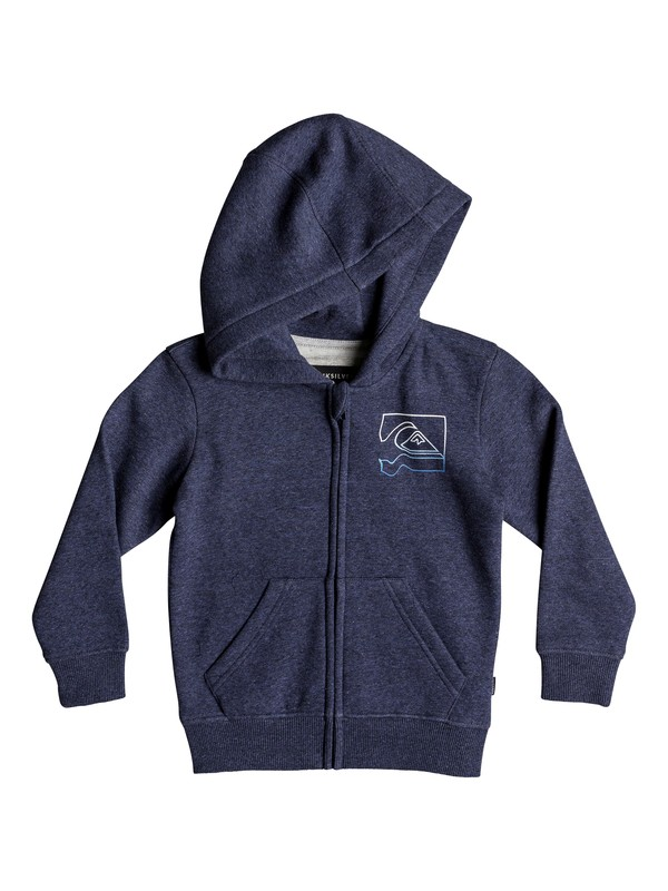 0 Boy's 2-7 Diamond Zip Hoodie Blue EQKFT03269 Quiksilver