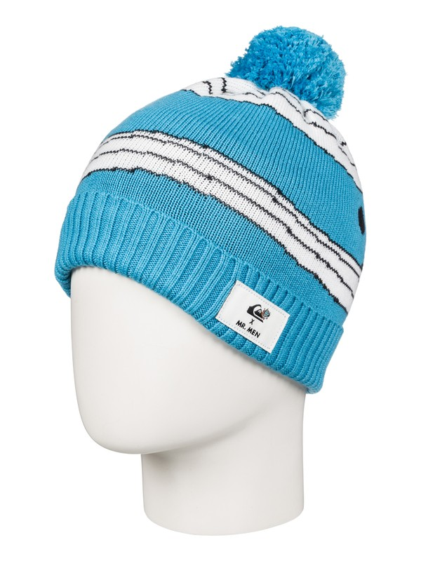 0 Boy's 8-16 Mr. Men Beanie White EQKHA03006 Quiksilver