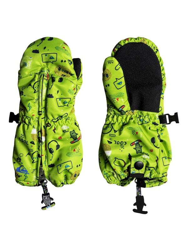 0 Boy's 2-7 Indie Ski/Snowboard Mittens Green EQKHN03004 Quiksilver