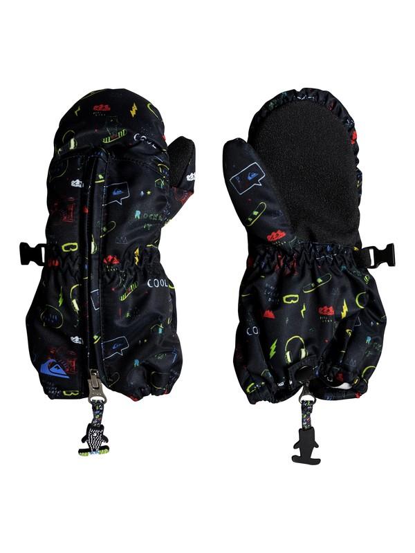 0 Boy's 2-7 Indie Snowboard/Ski Mittens Black EQKHN03004 Quiksilver