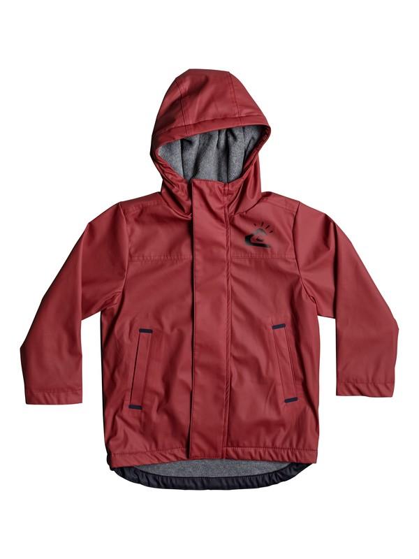 0 Malado - Wasserabweisender, langer Regenmantel für Jungen 2-7 Rot EQKJK03077 Quiksilver