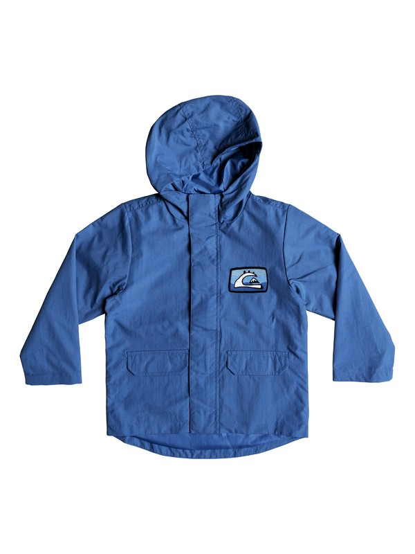 0 Spillin - Hooded Parka for Boys 2-7 Blue EQKJK03083 Quiksilver