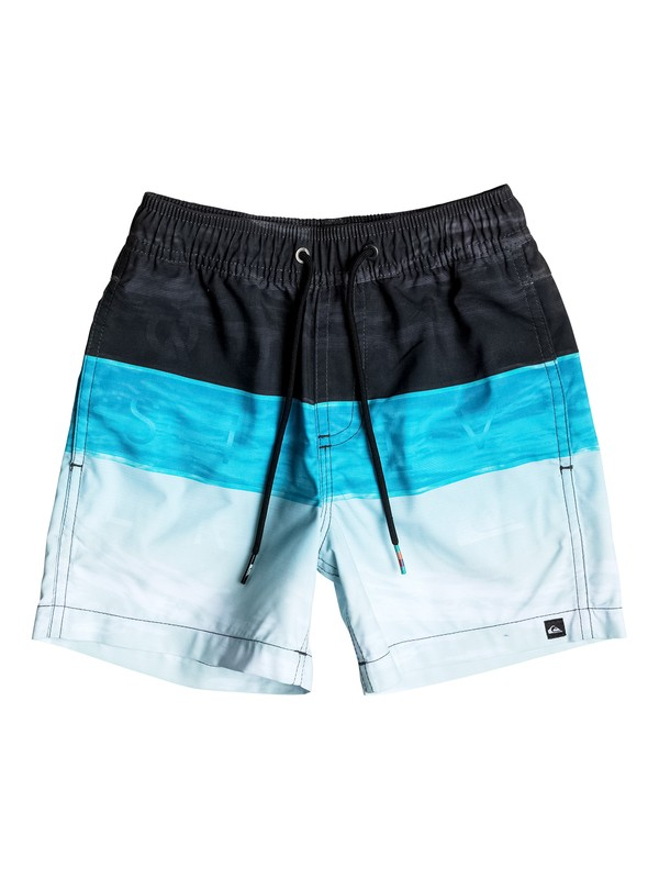 "0 Boy's 2-7 Word Waves 14"" Volley Boardshorts  EQKJV03028 Quiksilver"