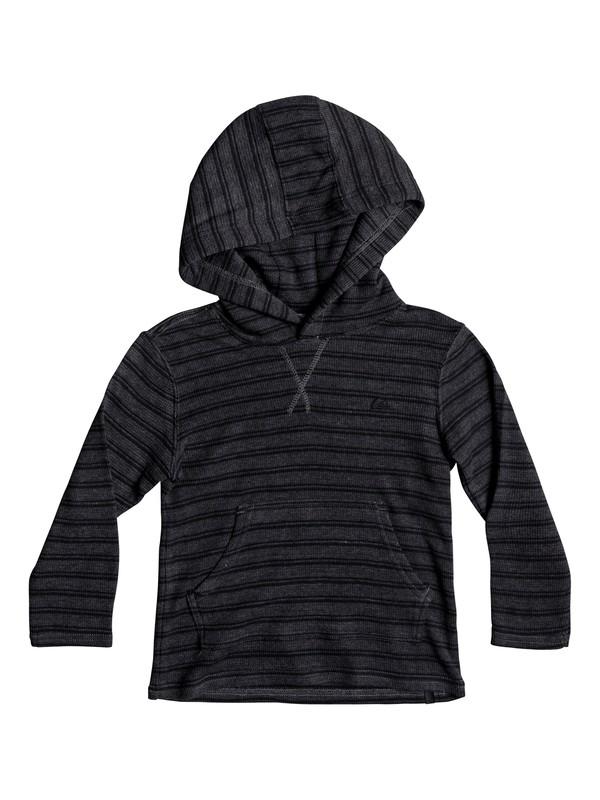0 Boy's 2-7 Ocean Surface Long Sleeve Hooded Tee  EQKKT03119 Quiksilver