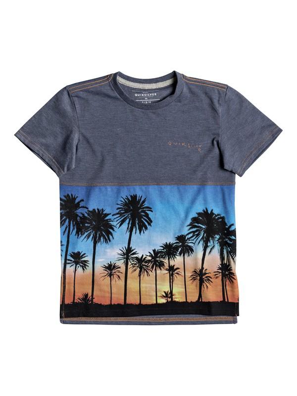 0 Moku Forest - T Shirt col rond Bleu EQKKT03122 Quiksilver
