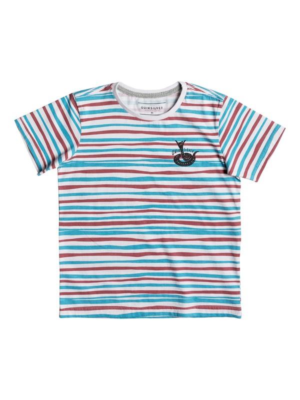 0 Rail Fiction - T Shirt col rond pour Garçon 2-7 ans Blanc EQKKT03125 Quiksilver