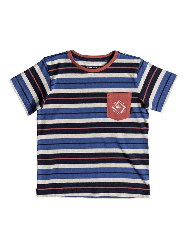 0 Boys 2-7 Oloa - Pocket T-Shirt Blue EQKKT03131 Quiksilver