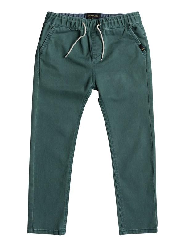 0 Krandy Elasticated - Pantalon coupe slim pour Garçon 2-7 ans Vert EQKNP03043 Quiksilver