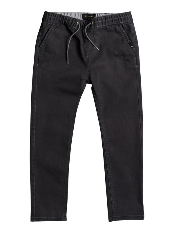 0 Boys 2 - 7 Krandy Elasticated Slim Fit Pants Black EQKNP03043 Quiksilver