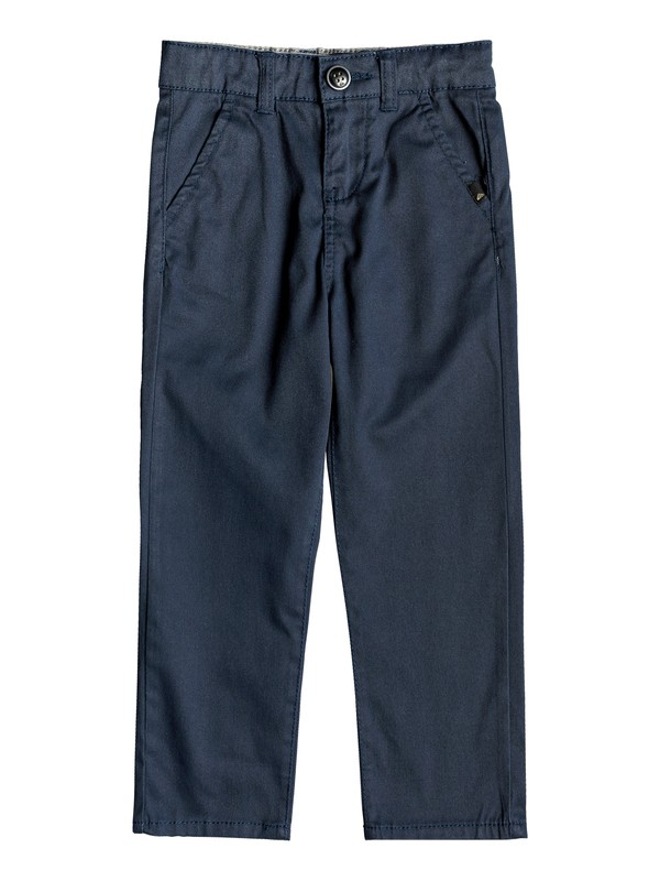 0 Boy's 2-7 Everyday Union Straight Fit Chinos Blue EQKNP03044 Quiksilver