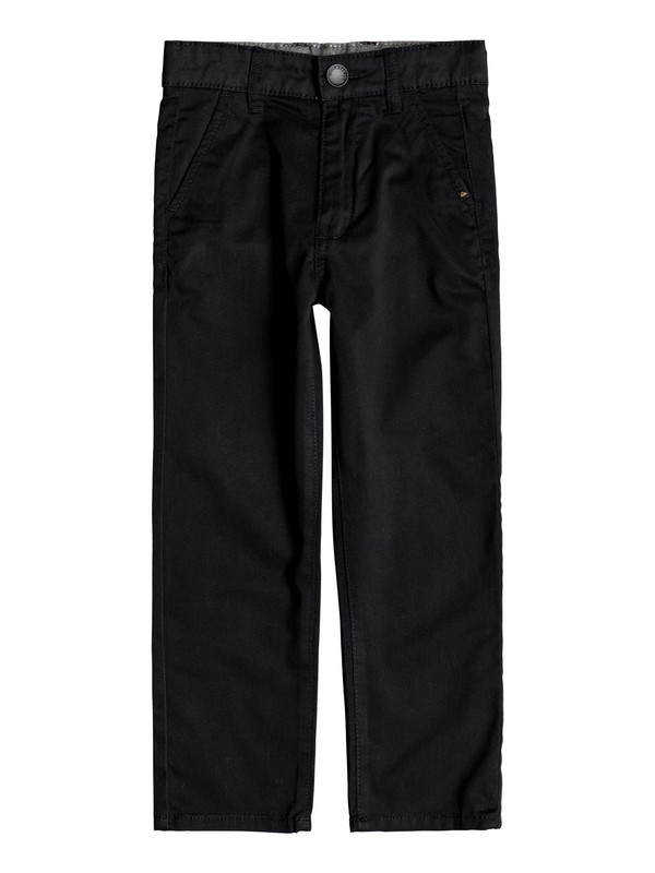 0 Everyday Union Straight Fit Chinos Black EQKNP03044 Quiksilver