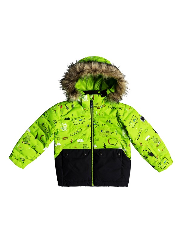 0 Edgy - Snow Jacket for Boys 2-7 Green EQKTJ03008 Quiksilver