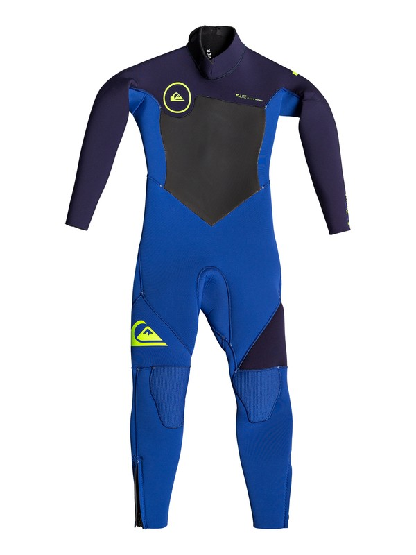 0 Boy's 2-7  4/3mm Syncro Series Back Zip GBS Wetsuit Blue EQKW103000 Quiksilver