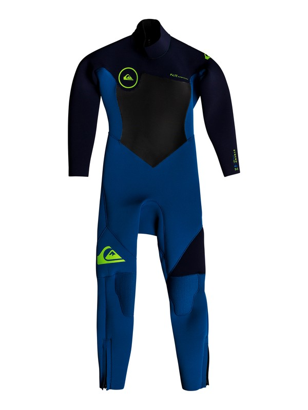 0 3/2mm Syncro Series - Back Zip GBS Wetsuit for Boys 2-7 Blue EQKW103001 Quiksilver