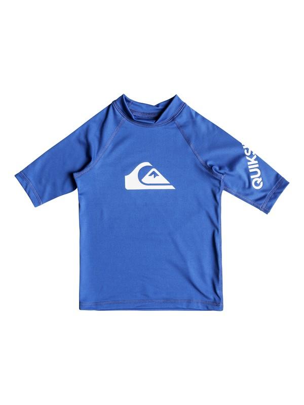 0 Boy's 2-7 All Time Short Sleeve UPF 50 Rashguard Blue EQKWR03019 Quiksilver