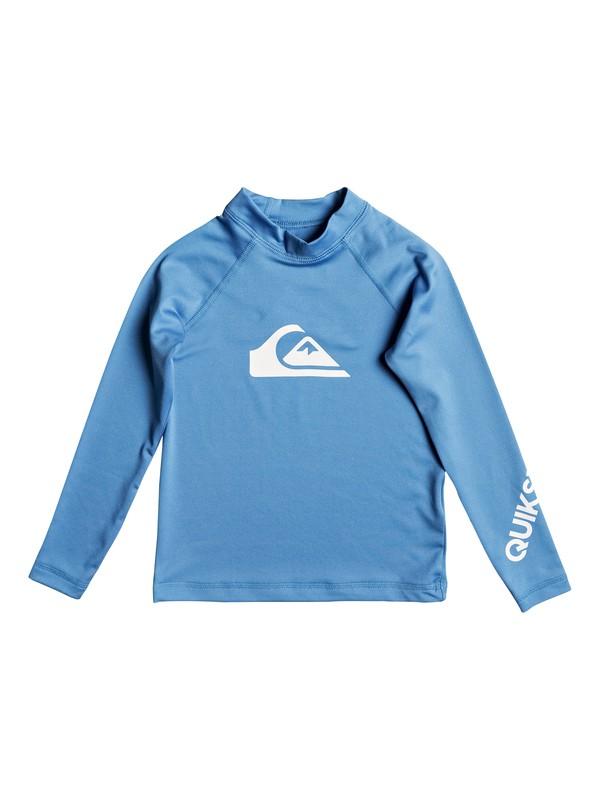 0 Boys 2 - 7 All Time Long Sleeve UPF 50 Rashguard Blue EQKWR03020 Quiksilver