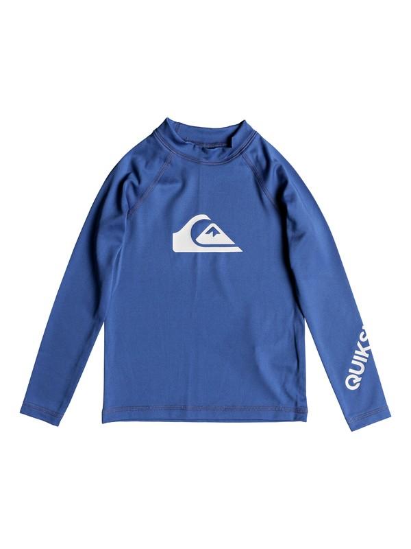 0 Boy's 2-7 All Time Long Sleeve UPF 50 Rashguard Blue EQKWR03020 Quiksilver