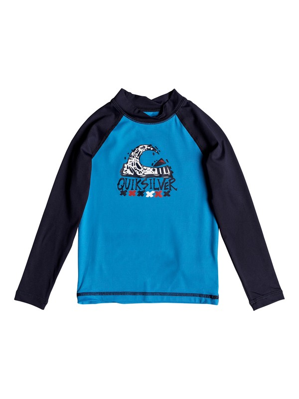 0 Boy's 2-7 Bubble Dream Long Sleeve UPF 50 Rashguard Blue EQKWR03023 Quiksilver