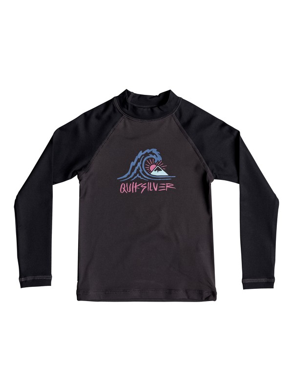 0 Boy's 2-7  Bubble Dream Long Sleeve UPF 50 Rash Guard Black EQKWR03034 Quiksilver