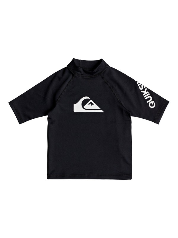 0 Boy's 2-7 All Time Short Sleeve UPF 50 Rash Guard Black EQKWR03039 Quiksilver