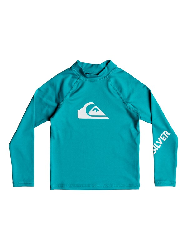 0 Boy's 2-7 All Time Long Sleeve UPF 50 Rash Guard  EQKWR03040 Quiksilver