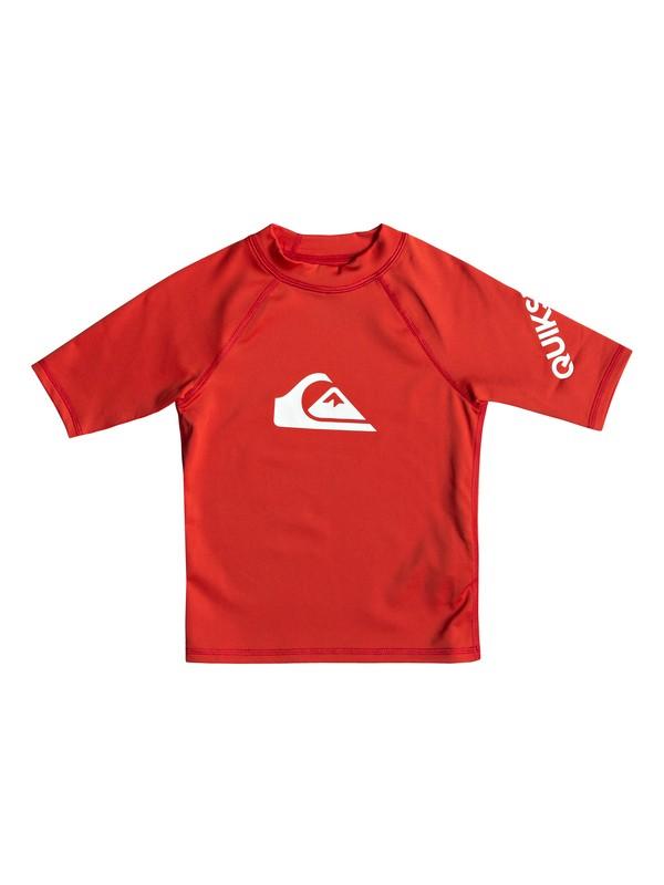 0 Boy's 2-7 All Time Short Sleeve UPF 50 Rashguard Red EQKWR03049 Quiksilver