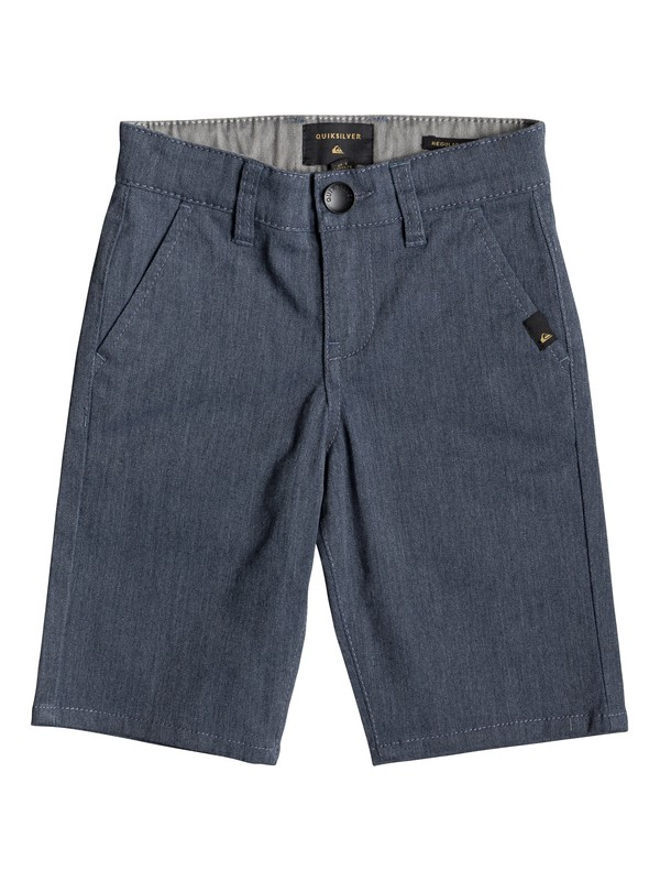 "0 Boy's 2-7 Everyday Union Stretch 24"" Chino Shorts Blue EQKWS03134 Quiksilver"
