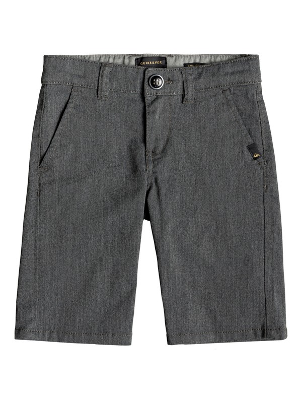 "0 Boy's 2-7 Everyday Union Stretch 24"" Chino Shorts Black EQKWS03134 Quiksilver"