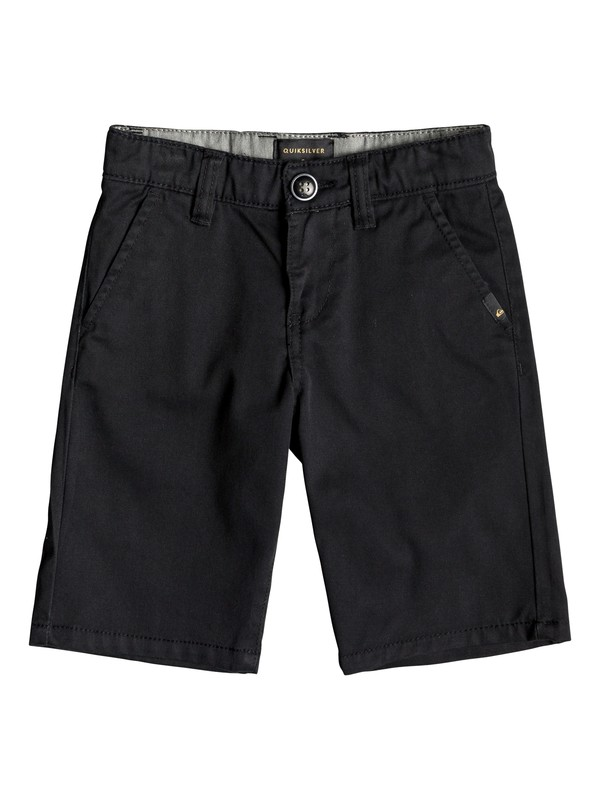 "0 Boy's 2-7 Everyday Union Stretch 24"" Chino Shorts Black EQKWS03134 Quiksilver"