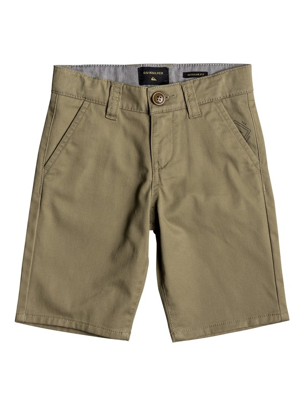 "0 Boy's 2-7 Everyday Union Stretch 24"" Chino Shorts Beige EQKWS03134 Quiksilver"