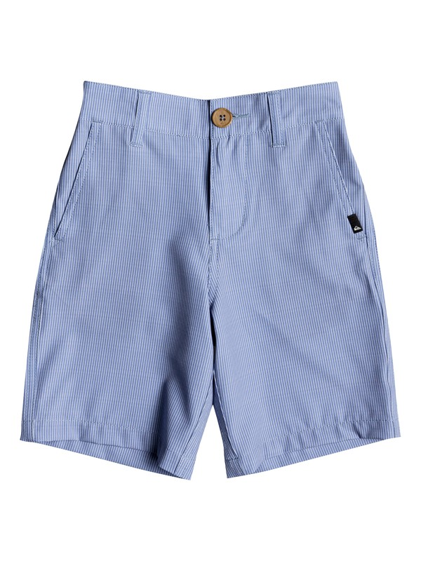 "0 Boys 2 - 7 Union Pinstripe 14"" Amphibian Shorts Blue EQKWS03140 Quiksilver"