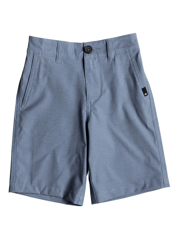 "0 Union Heather 14"" Amphibian Boardshorts Blue EQKWS03142 Quiksilver"