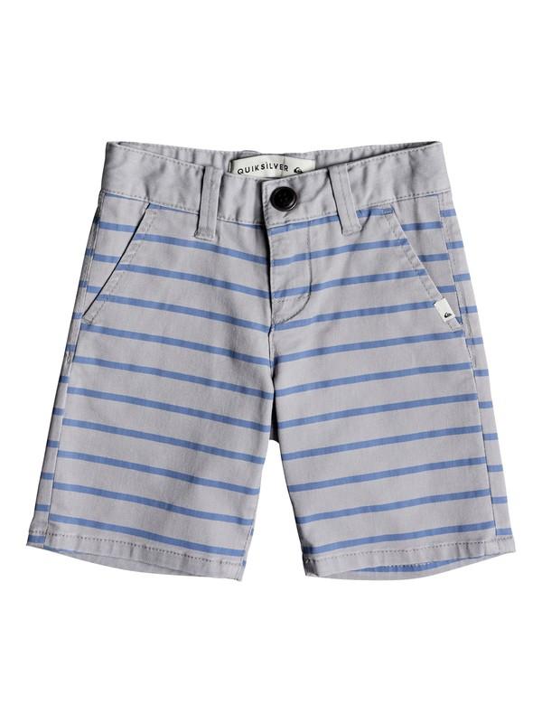 0 Waiku Plan Stripe - Shorts Grey EQKWS03147 Quiksilver