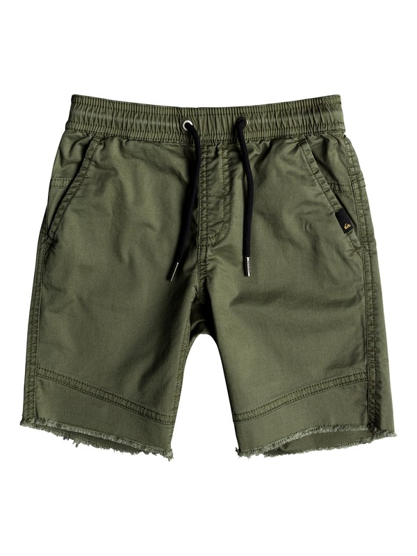 0 Boys 2 - 7 Foxoy Straight Tapered Fit Shorts Green EQKWS03149 Quiksilver