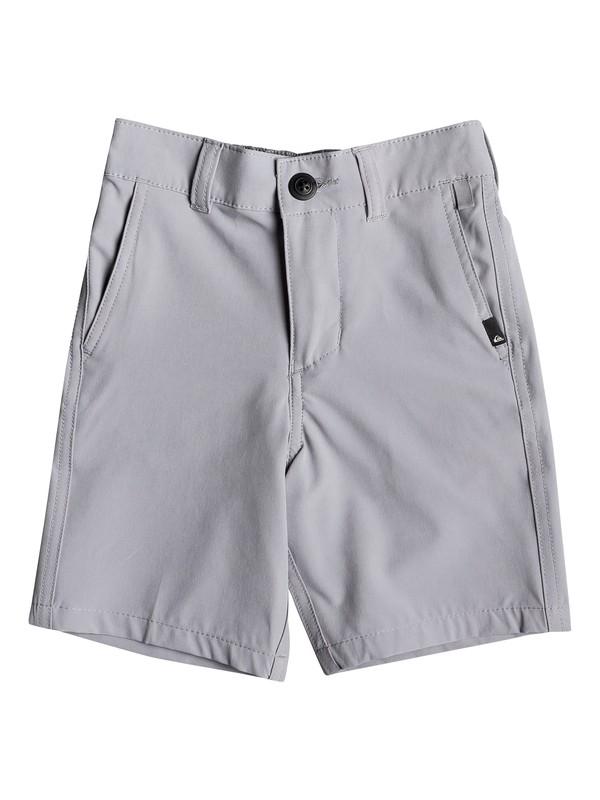"0 Boy's 2-7 Union 14"" Amphibian Boardshorts Grey EQKWS03167 Quiksilver"