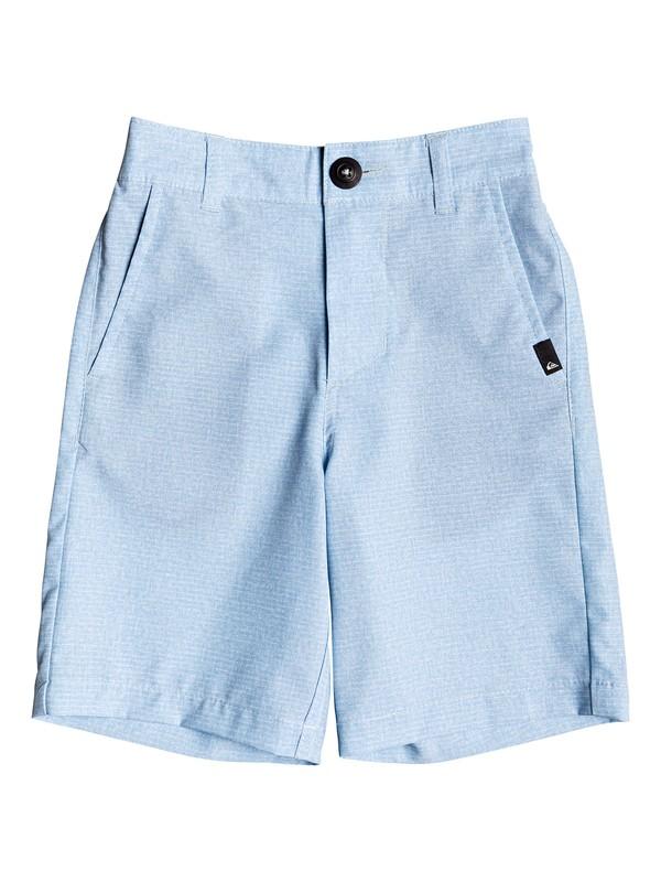 "0 Boy's 2-7 Union Heather 14"" Amphibian Boardshorts Blue EQKWS03168 Quiksilver"