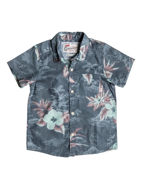 0 Boy's 2-7 Parrot Jungle Short Sleeve Shirt  EQKWT03081 Quiksilver