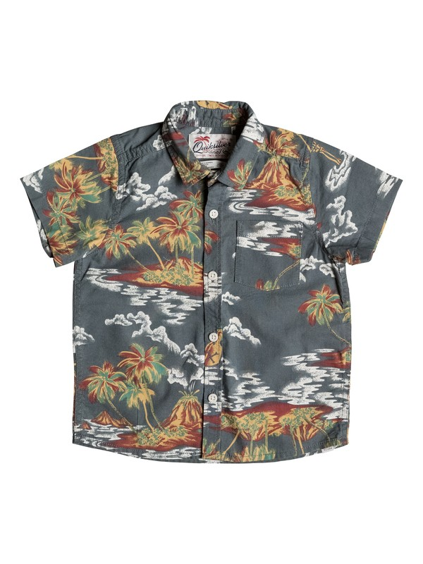 0 Boy's 2-7 Island Apocalypse Short Sleeve Shirt  EQKWT03092 Quiksilver