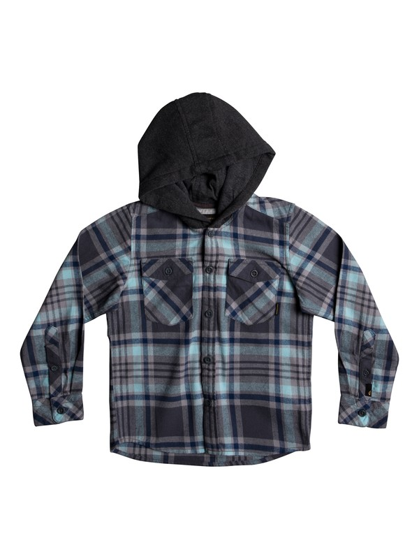 0 Boy's 2-7 Tang Hooded Long Sleeve Shirt Blue EQKWT03127 Quiksilver