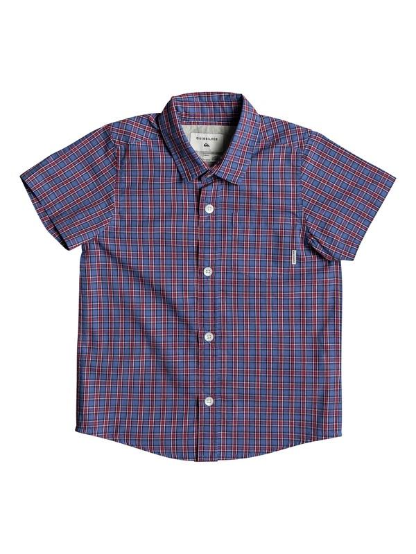 0 Boys 2 - 7 Sun Rythm Short Sleeve Shirt Blue EQKWT03131 Quiksilver