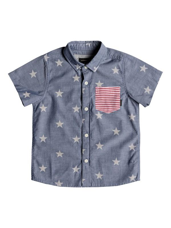 0 Boys 2-7 4th II - Short Sleeve Shirt Blue EQKWT03138 Quiksilver