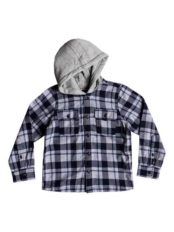 0 Boy's 2-7 Snap Up Long Sleeve Shirt Blue EQKWT03141 Quiksilver