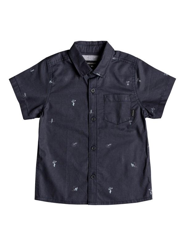 0 Boy's 2-7 Mini Kamakura Short Sleeve Shirt Blue EQKWT03147 Quiksilver