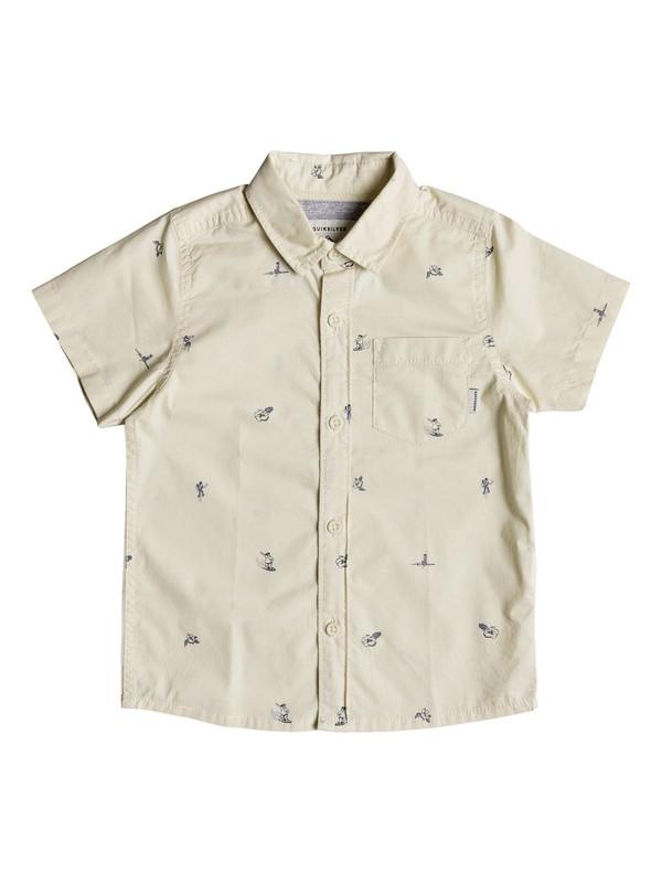 0 Boy's 2-7 Mini Kamakura Short Sleeve Shirt Beige EQKWT03147 Quiksilver