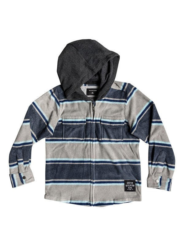0 Boy's 2-7 Surf Days Long Sleeve Hooded Shirt Blue EQKWT03151 Quiksilver