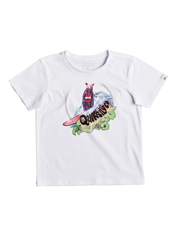 0 Classic Log Bear - T-Shirt for Boys 2-7 White EQKZT03190 Quiksilver