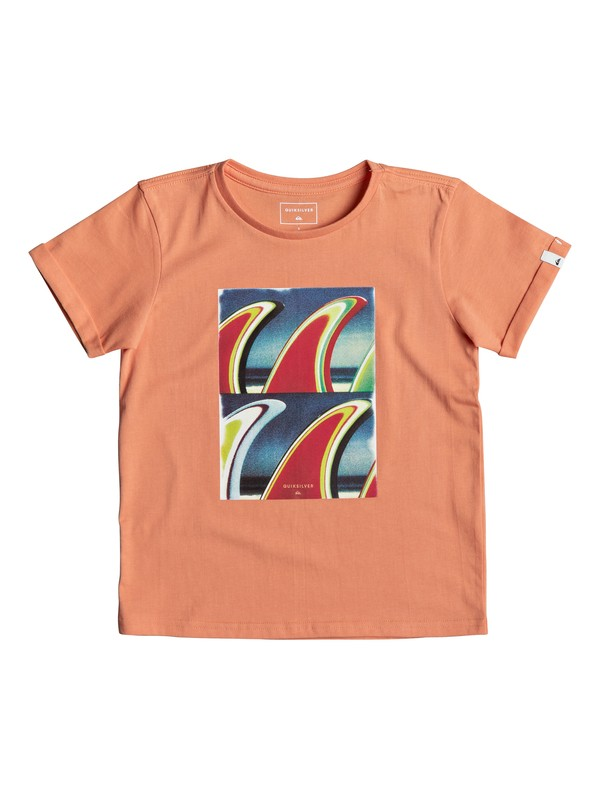 0 Classic Fin Fanatic - T-Shirt for Boys 2-7 Orange EQKZT03192 Quiksilver