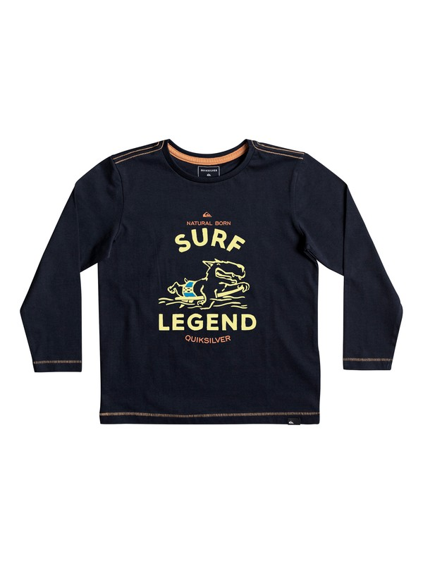 0 Classic Surf Legend - Long Sleeve T-Shirt for Boys 2-7 Blue EQKZT03200 Quiksilver